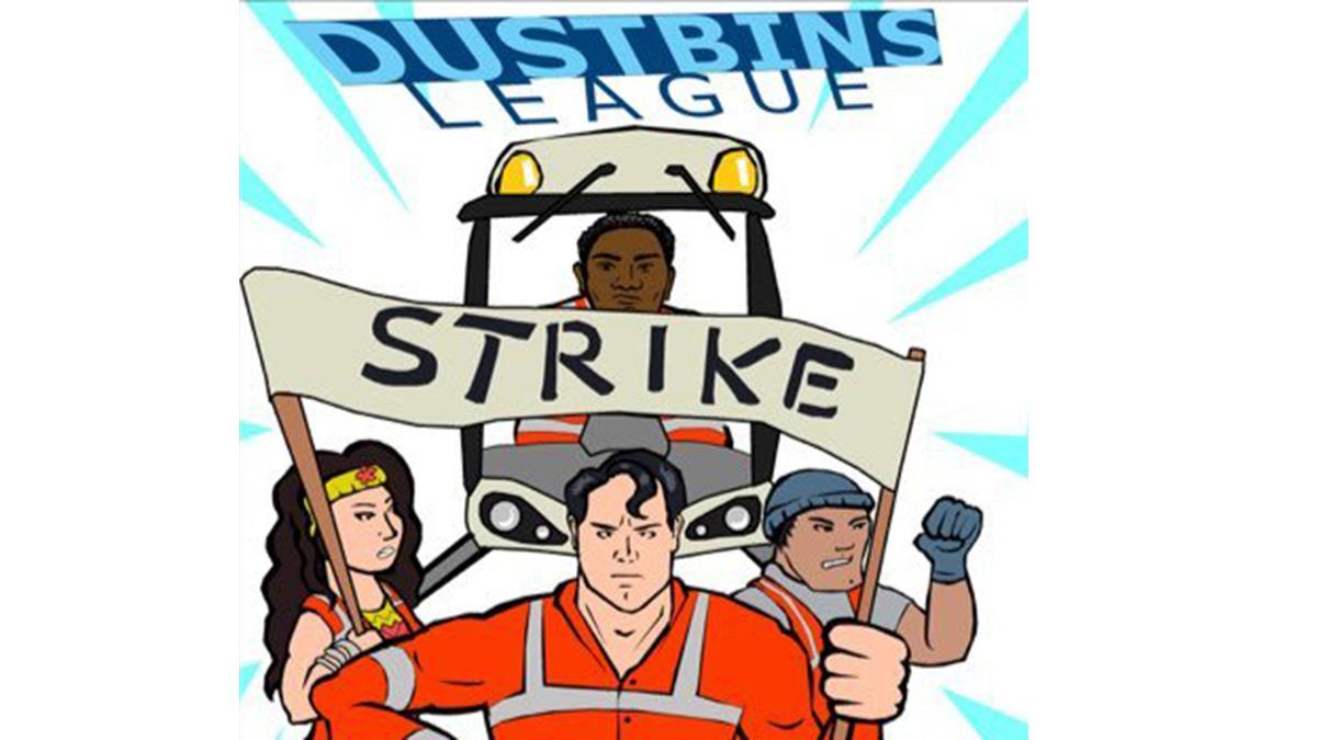 Bexley bin strike cartoon