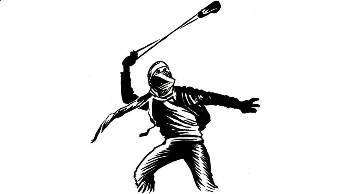 Palestine resitance cartoon by Rob Amos