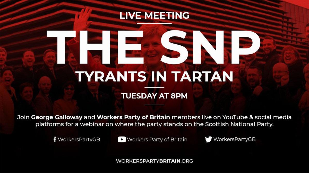 WPB SNP tyrants in tartan meeting July 2020