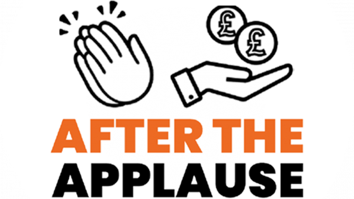 After the applause keyworker pay graphic