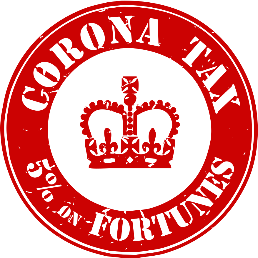 Corona tax campaign stamp