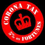 Corona tax crown stamp image