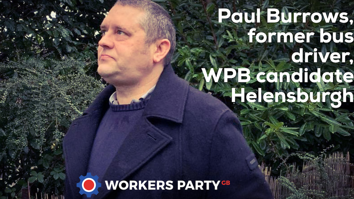 Paul Burrows WPB election candidate for Helensburgh
